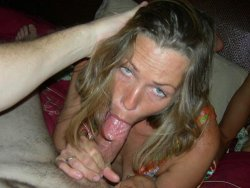 Mixed photos of real amateur blowjobs and cumshots