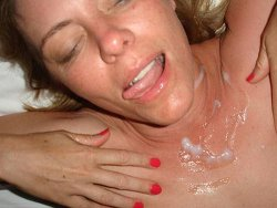 Mature wife giving blowjobs and getting facial cumshots