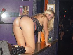 Swinger wife acts like a slut in the club