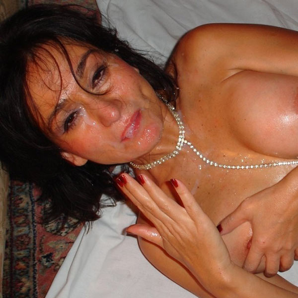 Mature blowjob get huge facial