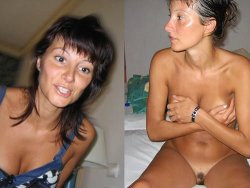 Mixed before-after sex pics of real amateurs