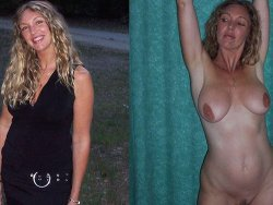 Before-and-after sex photos of hot MILFs, wives, and matures