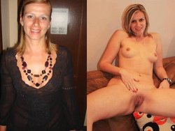Before-after video of a blonde wife having great sex at home