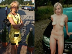 Blonde MILF ends the day with accidental outdoor fucking
