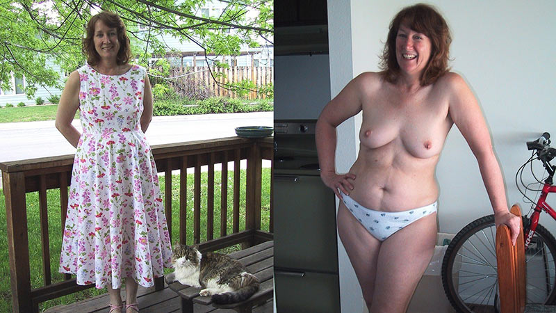 dressed women and mature undressed Amateur