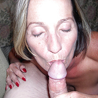 Older MILF Before and After Blowjob