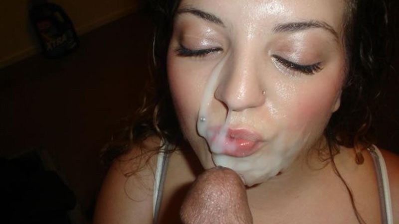 Girl has multiple cum in mouth