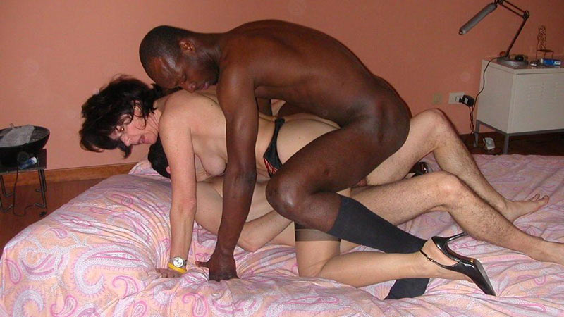 Husband and wife share black cock