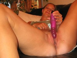 Horny older housewife fucking a dildo and then a cock