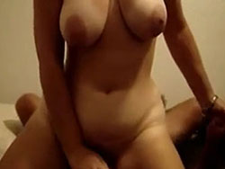 Busty MILF sits on his cock and rides it a lot