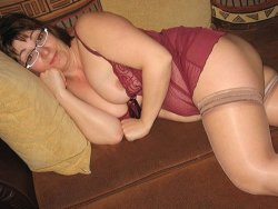 Chubby mature is seductive in her lacy teddie