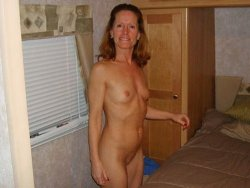Nude mature wife with small tits looks great for her age