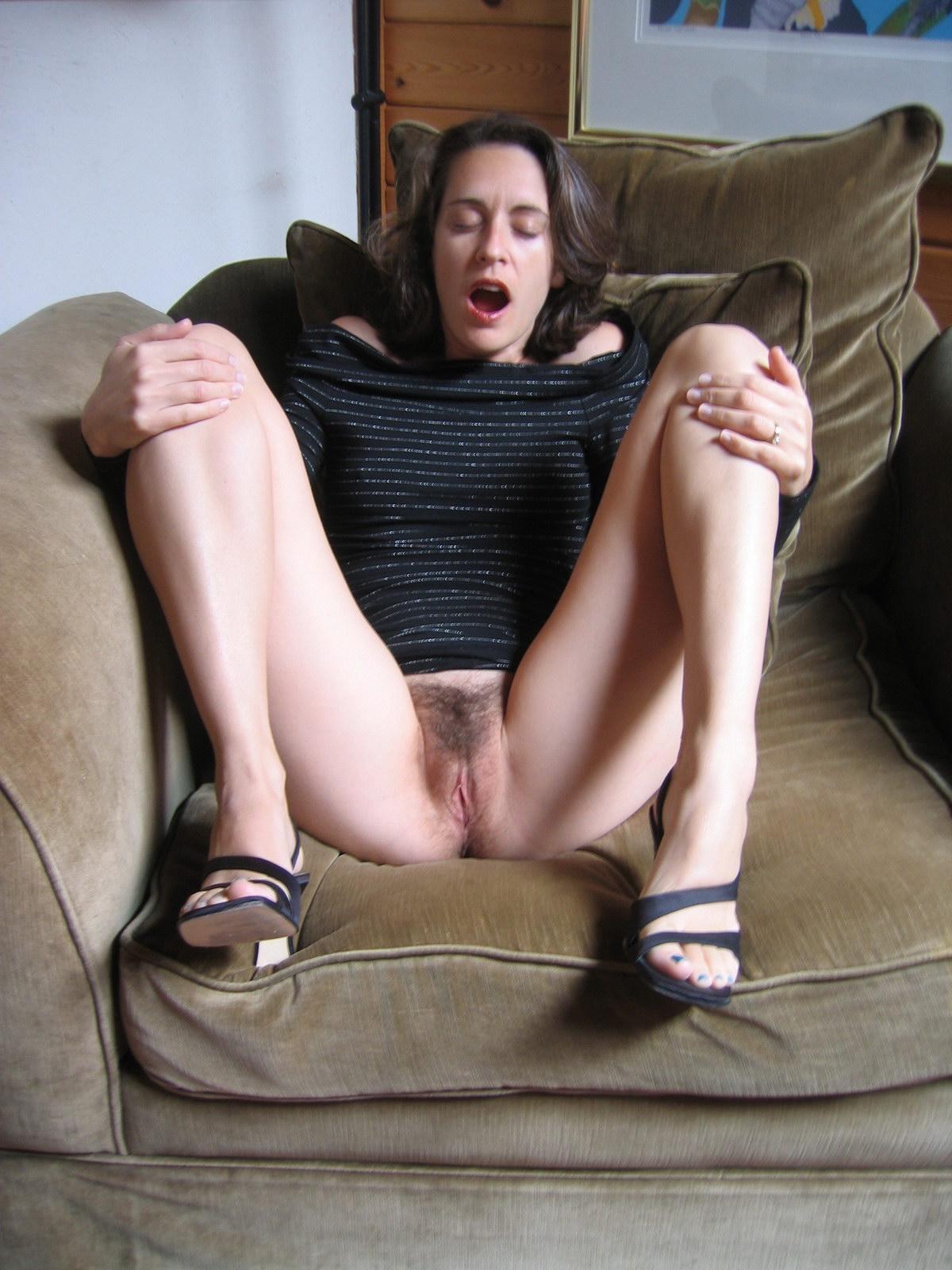 nude amateur on sofa