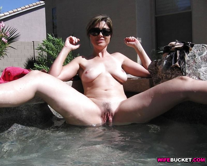public pool nude Wife