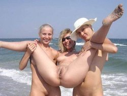 Three real amateur wives went to the nudist beach and loved it