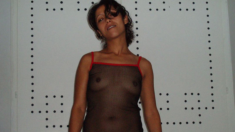 Horny Muslim wife in see-through lingerie