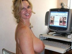 Busty mature housewife on webcam