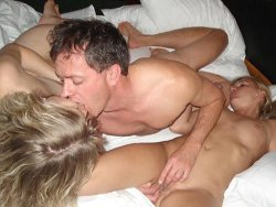 Sharing my cuckold wife in a gangbang