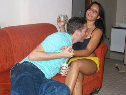 Cuckolding wife in an amateur gangbang