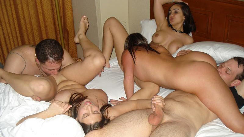 Nude girls at party
