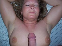 Mature housewife gets fat dick