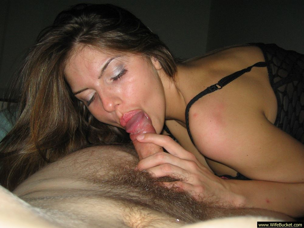 Sensual wife blowjob