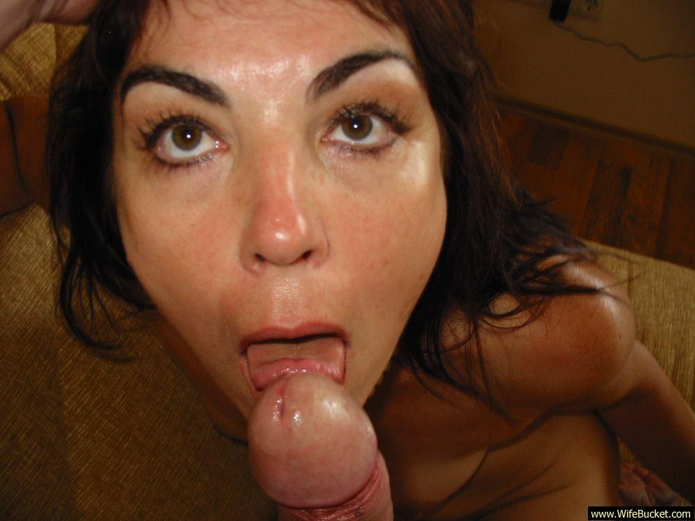 Chubby Wife Blowjob Swallow
