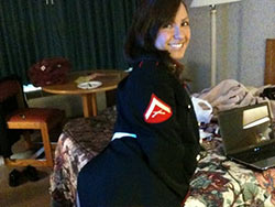 Nude pics of a hot Army woman