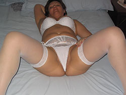 Real mature wife in sexy lingerie