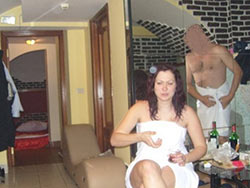 Hot amateur wife before the gangbang