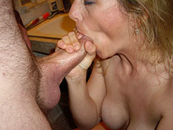 Mature slut good cock sucking