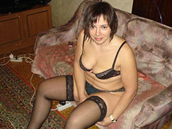 Fat wife in sexy lingerie