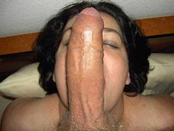 Deepthroat blowjob from mature amateur wife