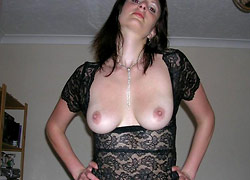 Drunk wife showing her big tits