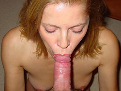Blowjobs and facials from this kinky wife