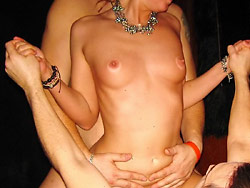 Cheating wife fucked at the swingers party