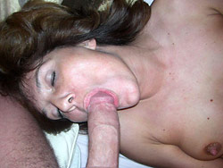 Hot blowjob from a wife over 40