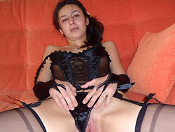 Hot MILF in sexy lingerie