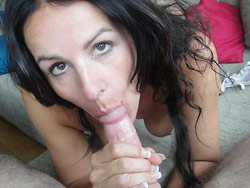 Wife over 40 cock-sucking pics