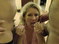 MILF amateur wife blowbang pics
