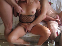 Homemade pics from a real amateur gangbang