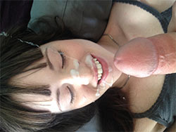 Huge facial cumshot for a hot amateur wife
