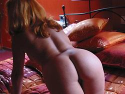 Swinger wife naked in bed
