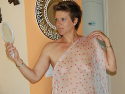 Classy mature wife naked at home