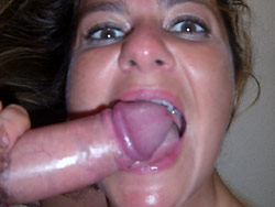Blowjobs pics from a real amateur MILF