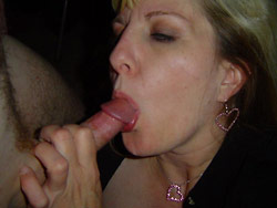 Blowjob pics from an older swinger wife