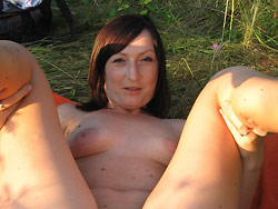 Outdoor sex pics from a real wife