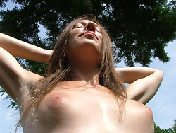 Amateur wife naked in public