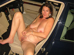 Drunk wife naked in the car