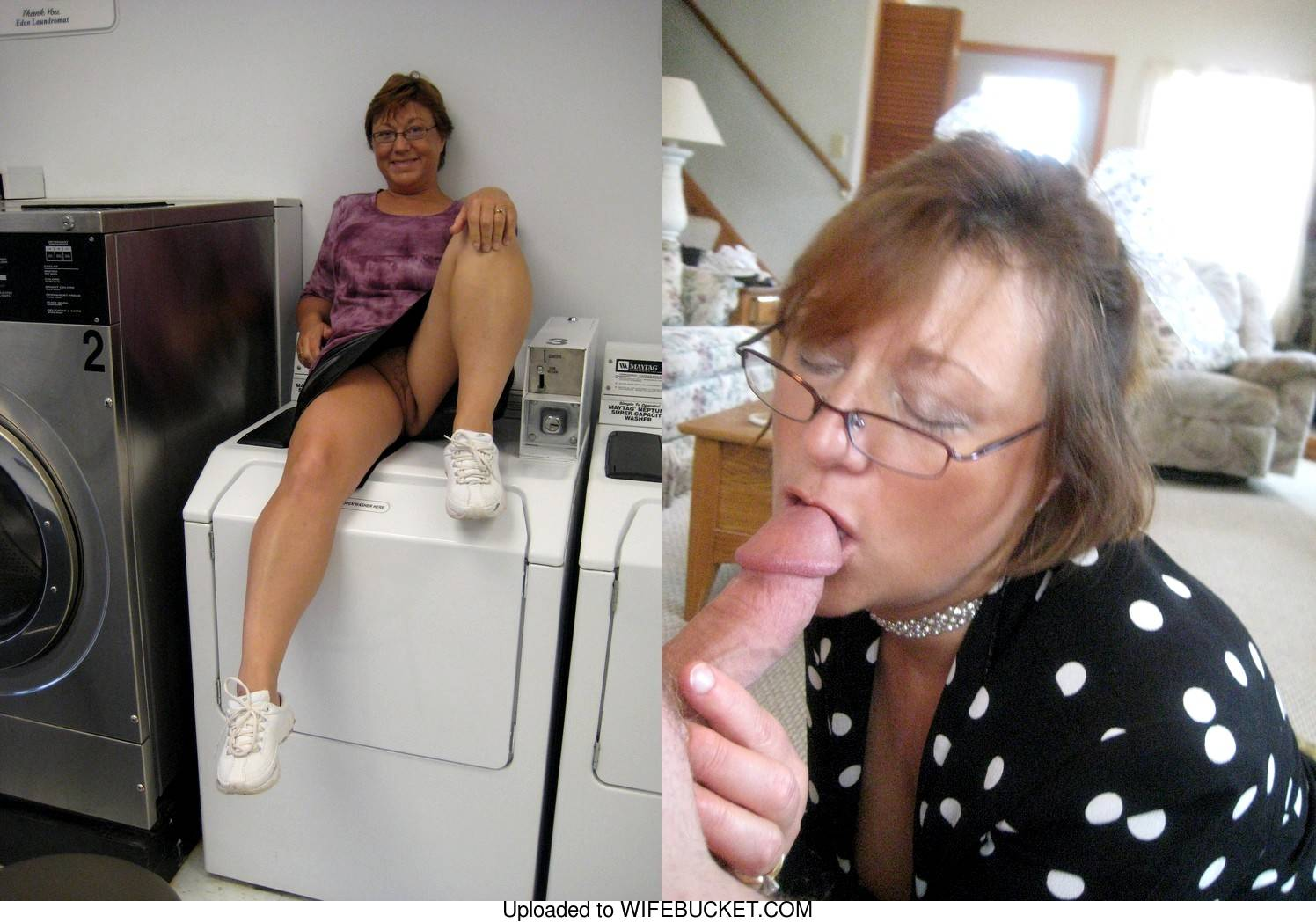 before after cumshot from amateur granny